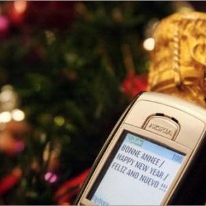 Nouveau record d'envoi de SMS pour le Nouvel An