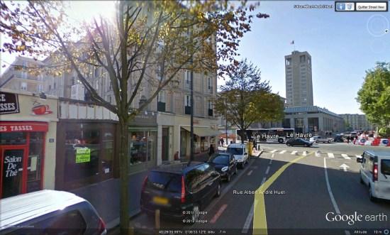 Free center le Havre vue Hotel de ville