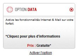 Free Mobile : option data
