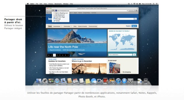 Share Sheets OS X Mountain Lion