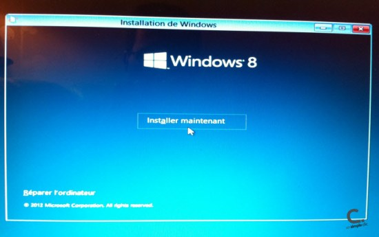 Windows 8 étape 2