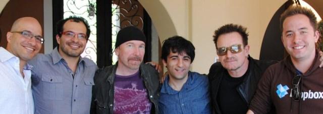 Bono et The Edge du groupe U2 investissent dans Dropbox