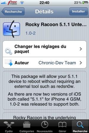 Pas à pas du passage du Jailbreak Tethered au Jailbreak Untethered de l'iOS 5.1.1