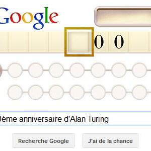 Google fête le 100ème anniversaire d'Alan Turing