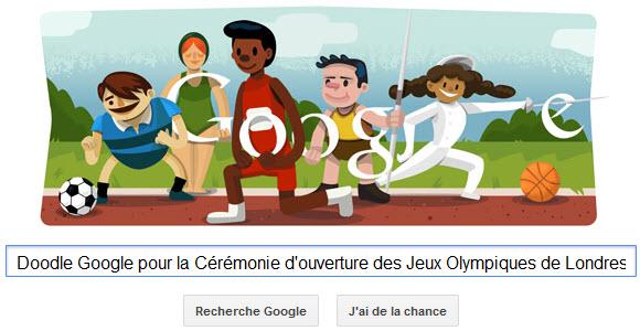 Un Doodle Google pour la Cérémonie d'ouverture des Jeux Olympiques de Londres 2012