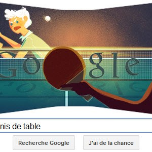 #Londres2012 - Google met à l'honneur le Tennis de table