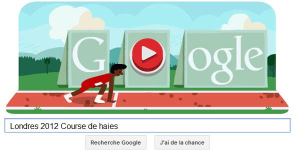 #Londres2012 - Google met à l'honneur la Course de haies