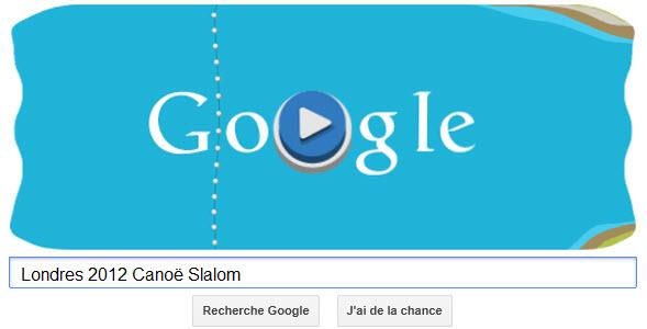 #Londres2012 - Google met à l'honneur le Canoë slalom