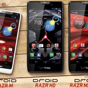 Motorola annonce trois nouveaux Razr, les Razr Maxx HD et Razr HD, mais aussi le Razr M