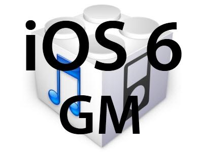 L'iOS 6 GM est disponible!
