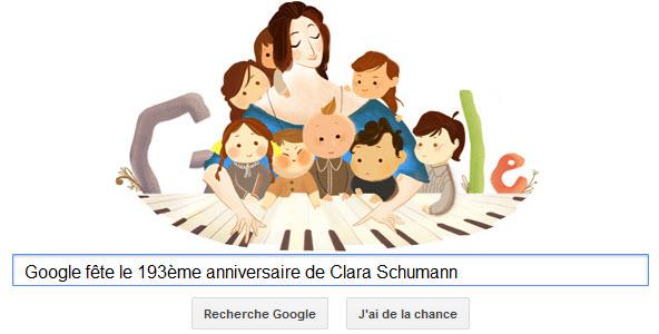 Google fête le 193ème anniversaire de Clara Schumann