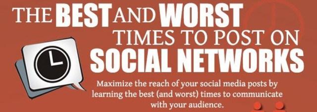 Quels les meilleurs et les pires moments pour poster sur les réseaux sociaux? [infographie]