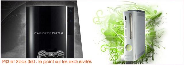 Exclusivités PS3 et Xbox 360