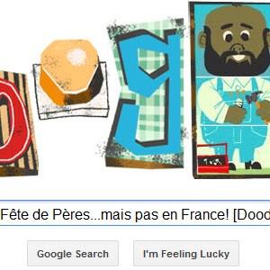 Google célèbre la Fête des Pères...mais pas en France! [Doodle]