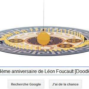 Google fête le 194ème anniversaire de Léon Foucault [Doodle]