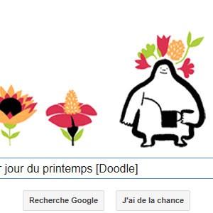 Google fête le 1er jour du printemps [Doodle]