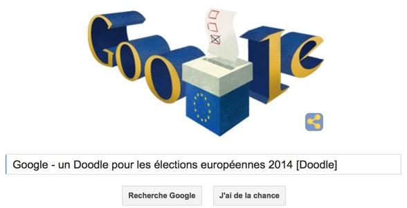 Google - Un Doodle pour les élections européennes 2014 [Doodle]