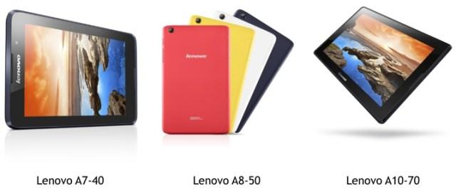 Lenovo commercialise 3 nouvelles tablettes