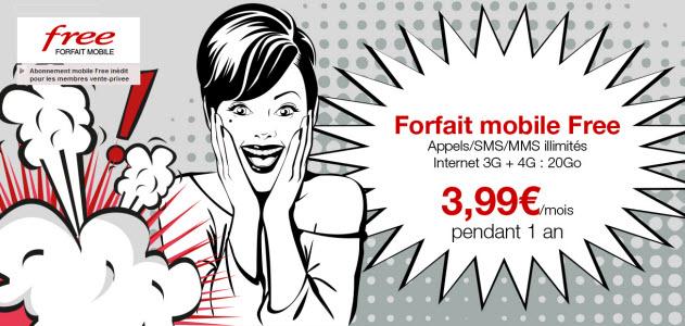 #FreeMobile brade son forfait à 19,99 € sur Vente-privee.com