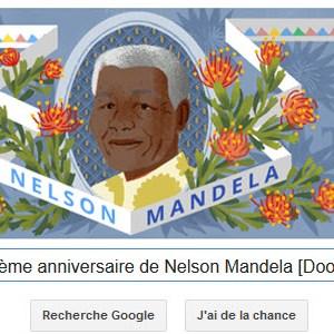 Google fête le 96ème anniversaire de Nelson Mandela [Doodle]