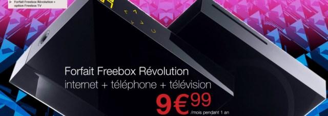 Free propose son forfait Freebox Revolution + Option TV à 9,99€ sur Vente-privee.com