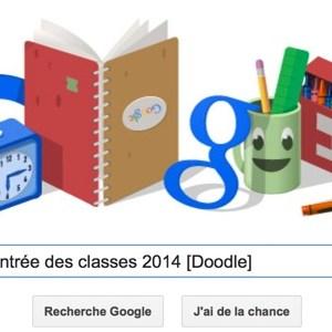 Google fête la Rentrée des classes 2014 [Doodle]
