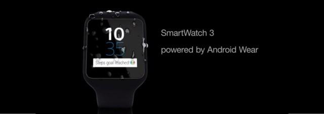 #IFA2014 - Sony présente la SmartWatch 3, sa nouvelle SmartWatch mais sous Android Wear