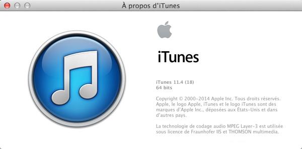 iTunes 11.4 est disponible au téléchargement