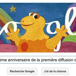 Google fête le 40ème anniversaire de la première diffusion de Casimir [Doodle]