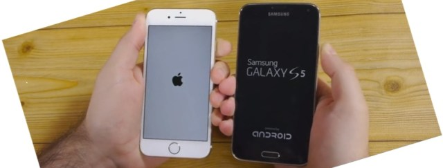 Galaxy S5 vs iPhone 6 - Quel est le plus rapide? [video]
