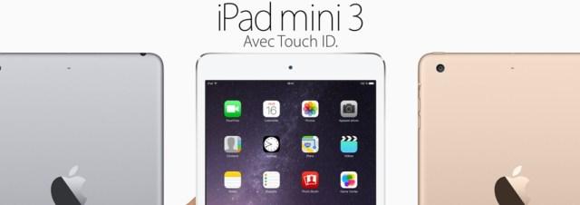 Apple lance l'iPad Mini 3, un