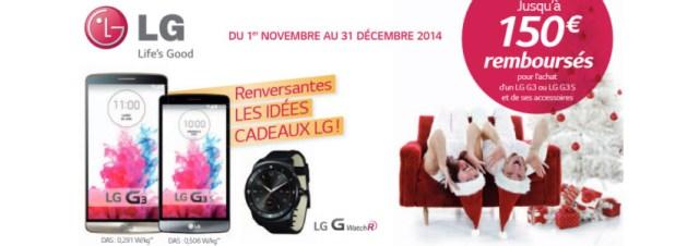Départ des promotions LG pour Noël 2014