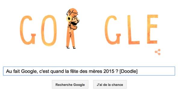Au fait Google, c'est quand la fête des mères 2015 ? [Doodle]