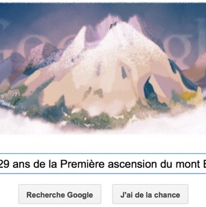 Google fête les 229 ans de la première ascension du Mont Blanc [Doodle]