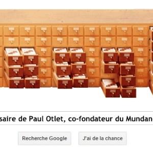 Google fête le 147ème anniversaire de Paul Otlet, co-fondateur du Mundaneum [Doodle]