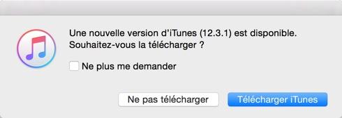 iTunes 12.3.1 est disponible au téléchargement [liens directs]