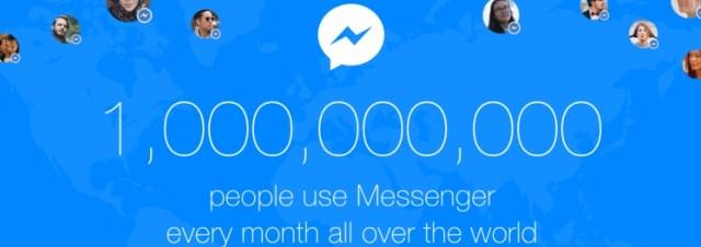 Facebook Messenger est utilisé par un milliard d'utilisateurs tous les mois