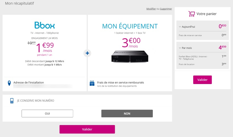 Bouygues Telecom - Forfait Série Limitée Bbox à 1,99€ par mois : attention aux frais !