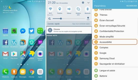 Galaxy S7 / S7 Edge : comment allumer l'écran sans toucher l'appareil ? [Tuto]
