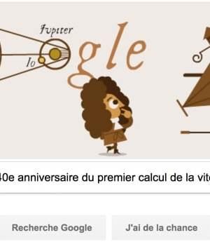 Google fête le 340e anniversaire de la détermination de la vitesse de la lumière [#Doodle]