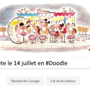 Google fête le 14 juillet en #Doodle
