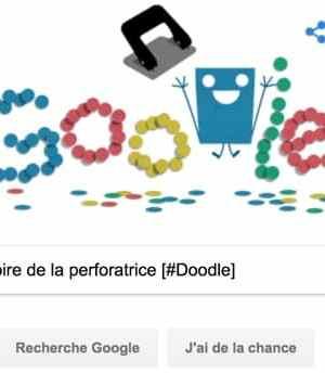 Google fête l'histoire de la perforatrice [#Doodle]