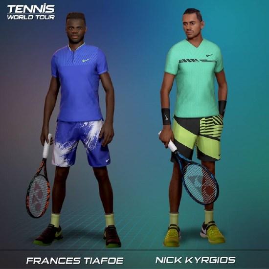 Tennis World Tour : découverte de la liste des 32 joueurs et joueuses
