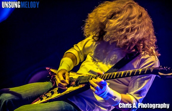 Megadeth in concert in Columbus, OH.