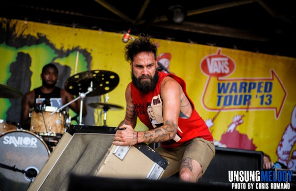 letlive. at the Vans Warped Tour in Holmdel, NJ