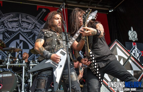 Mayhem Festival 2013: Machine Head at the Klipsch Music Center in Noblesville, IN
