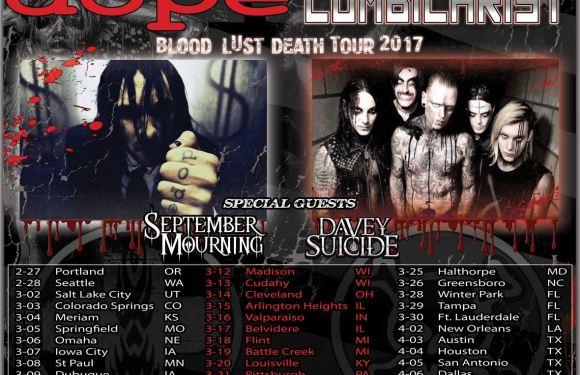 DOPE / Combichrist Announce Blood, Lust, Death 2017 Tour