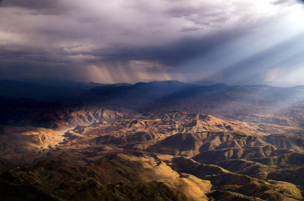 The rolling barren hills of Ethiopia, a landscape in desperate need of reforestation