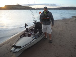 Gale by his Hobie Pro Angler 14