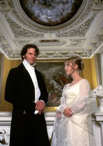 Colin Firth e Emilia Fox in P&P, BBC 1995